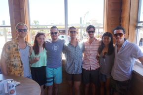 John and Jacob with Liz + Joyce At Hangout Festival, where we first met!